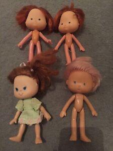 4 Vintage Strawberry Shortcake Doll Appât Toyse Espagne 1980 S Original Toy Figure-afficher Le Titre D'origine