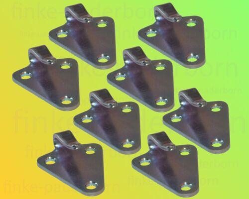 8 x Dreiloch Planenhaken verzinkt Dreilochhaken Netz Haken Anhänger