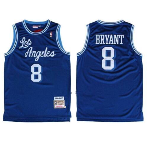 #8 Kobe Bryant NBA BLUE Jersey Los Angeles Lakers Authentic Vintage Swingman