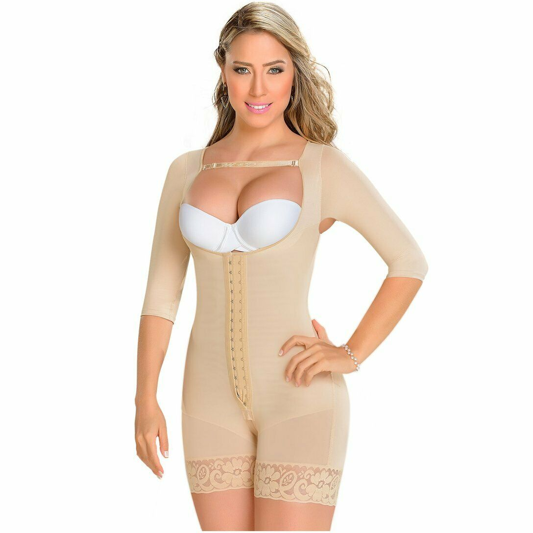 Fajas MYD 0164 Mid Thigh Bodysuit Body Shaper for Women   Powernet