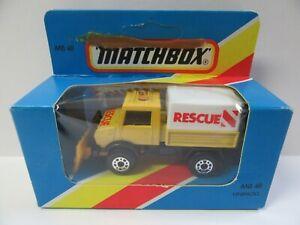 Matchbox-Superfast-MB48-Unimog-amp-Snowplough-Mint-Boxed