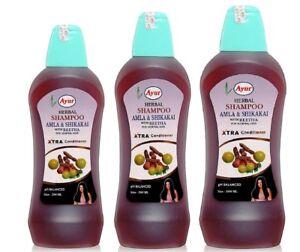 Ayur-Herbal-Shampoo-Amla-amp-Shikakai-With-Reetha-100-ML-200-ML-500-ML-1000-ML