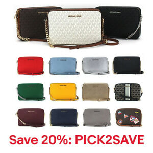 New Michael Kors JetSet East West Chain Xbody Saffiano Leather,20% off:PICK2SAVE