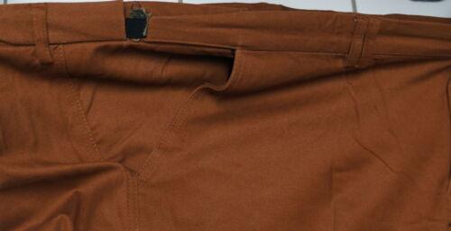 Neuf Grande Taille Hommes Stretch Flatfront Pantalon Avec schiebebund Marron Taille 68,72