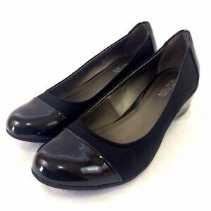 Kenneth-Cole-Ballet-Wedge-Heels-Women-Size-8-5-Cap-Toe-Leather