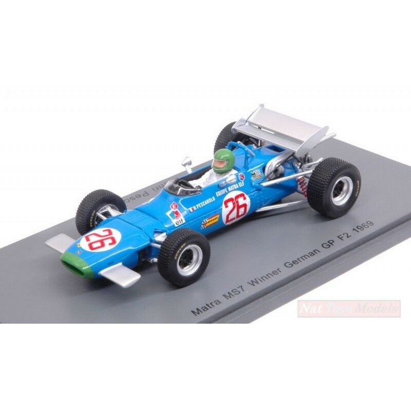 SPARK MODEL S4290 MATRA MS7 H.PESCAROLO 1969 N.26 WINNER GERMAN GP F2 1:43 MODEL