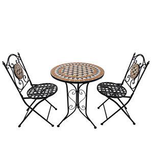Outdoor Mosaic Tile Dining Set Garden
