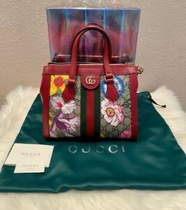 NEW AUTHENTIC Gucci Bag New Ophidia Flora Red/Multicolor