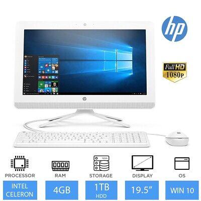 "HP 20-c400na 19.5"" Full HD All-in-One PC Intel Dual Core, 4GB, 1TB HDD, Win 10"