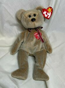 """Retired Ty Beanie Baby """"1999"""" Signature Bear - great condition beanie"""