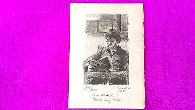 Ref 4 The Latest Fashion 1973 24x18 Lithography Original Simo Busom I Grau Signed Numerada