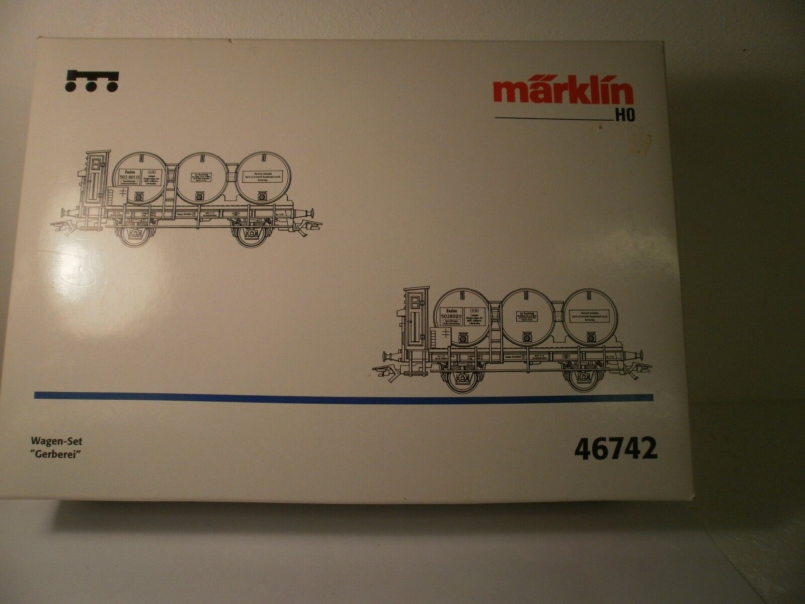 Marklin HO 46742 Tannery Car Set  - Unused Boxed