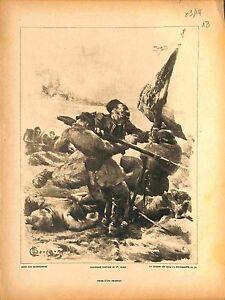 Prise-d-039-un-Drapeau-Deutsches-Heer-Tirailleurs-Senegalais-de-Bourgonnier-1914-WWI