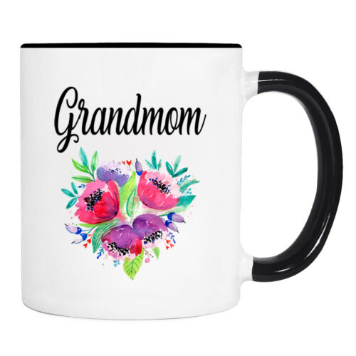 Grandmom Flowers Grandmom Gift Grandmom Mug Gifts For Grandmom Mug