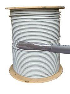 50 m CAT6A S/Ftp Lszh Lsoh 100% Cuivre GRIS Câble Réseau Ethernet Indoor