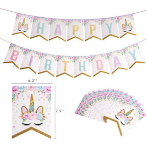 Unicorn-Garlands-Banners-Cupcake-Topper-Happy-Birthday-Banner-Birthday-Decor