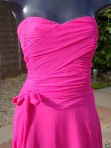 Hochzeit Monsoon Strapless Abschlussball 08 Partyrennen Silk Pink Dress Sarah wZ1wPY