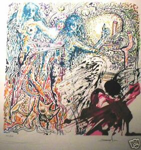 DALI-HAND-SIGNED-PARADISE-LOST-LITHOGRAPH-LES-VITRAUX
