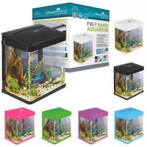 Small Nano Aquarium Fish Tank Coldwater Tropical Led Lighting 7 14