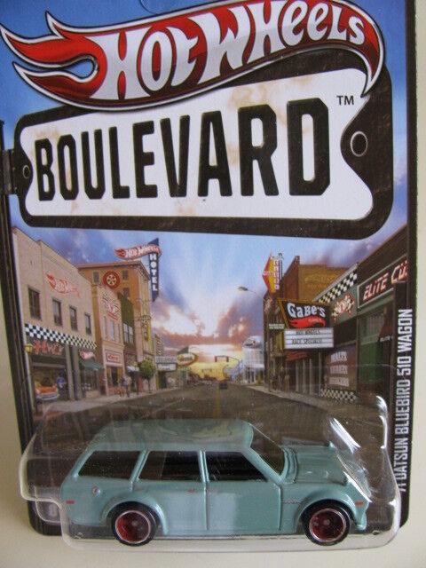 Hot Wheels Nissan Datsun Bluebird 510 Vagón Boulevard  71 Azul Hotwheels 2 un.