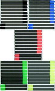 50 Klett Kabelbinder 50 cm x 50 mm in 5 verschiedenen Farben Kabel Klettband Öse
