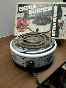 Details about Vintage Munsey Model FB-1 Extra Burner Hot Plate in Original  Box - Fully Tested