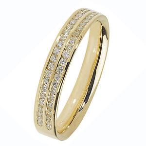 Image Is Loading Wedding Ring Diamond Band 18 Carat Yellow Gold
