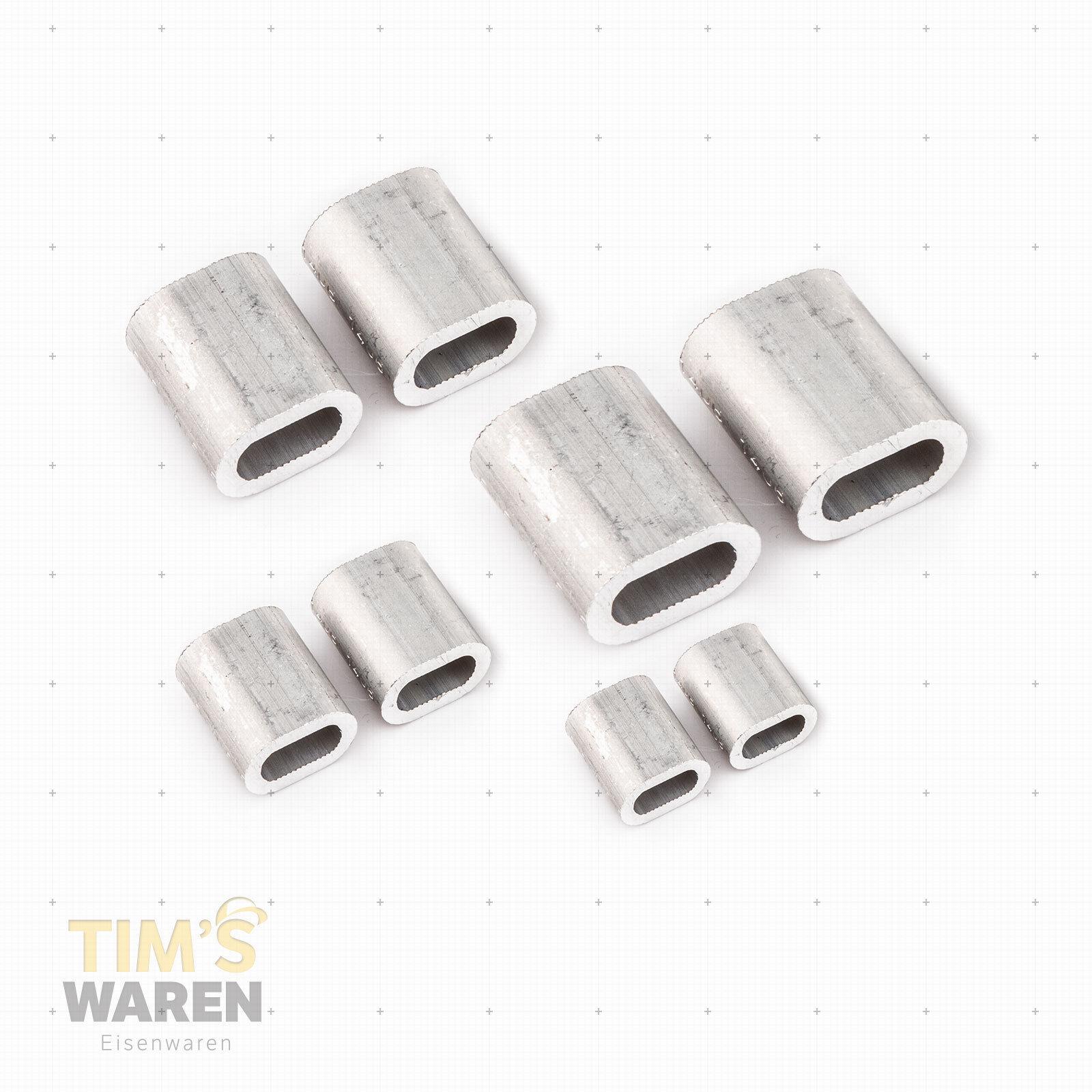 Aluminium Aluminium Aluminium Pressklemmen 10mm Alupressklemmen Seilklemme Stahlseil EN Presshülsen aeb671