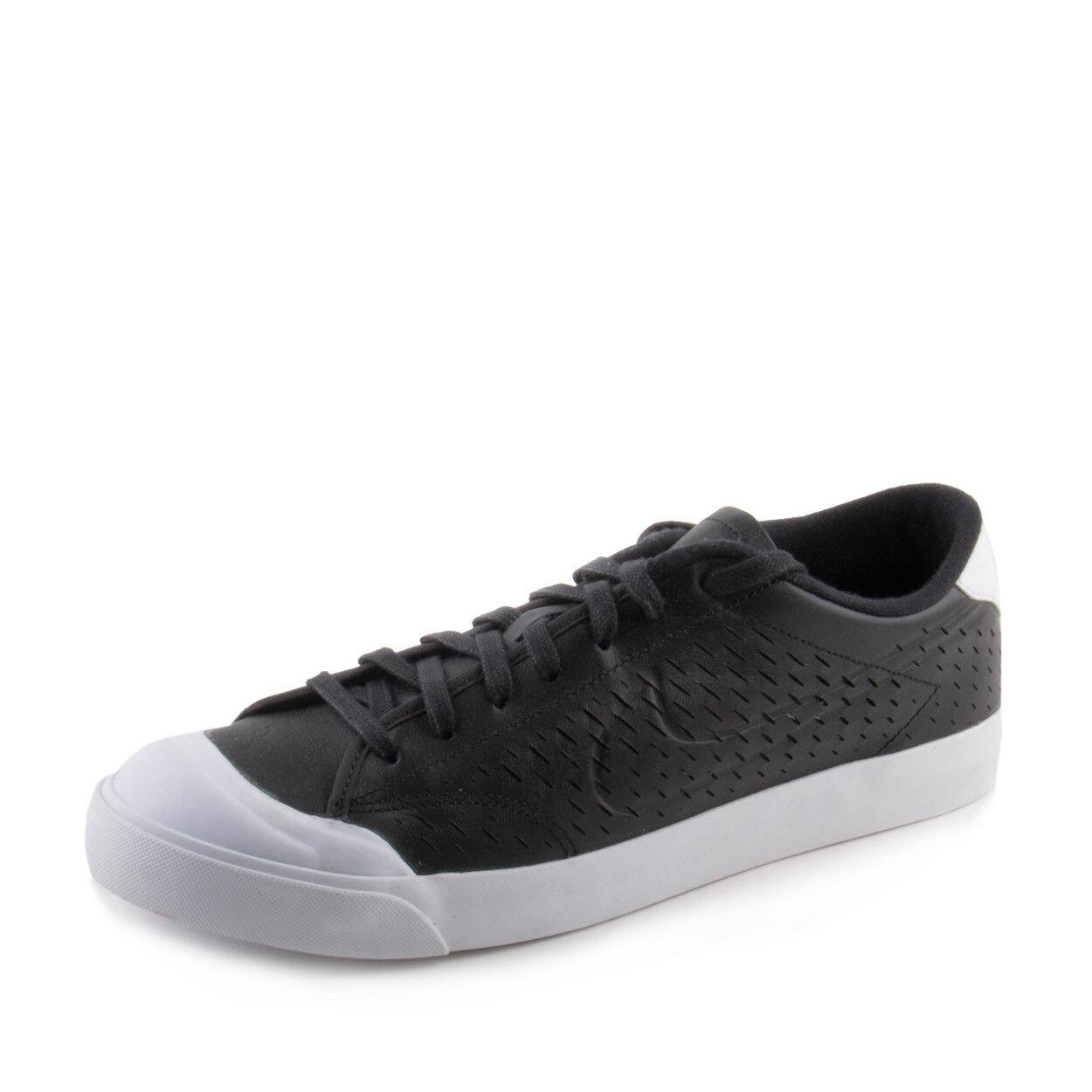 Nike para hombre todos los Court 2 Baja De Cuero Negro blancoo 724271-002