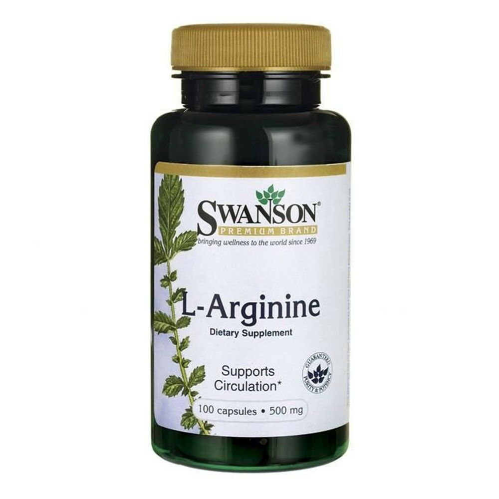 Swanson L-Arginine- Supports Cardiovascular System, Build Muscle 100 Capsules