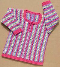 Para Niños Sweater Crochet Patrón No. 190 diseñado por Kay Jones