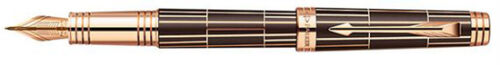 Parker-Premier-Luxury-Brown-Pink-Gold-Trim-PGT-Medium-Nib-Fountain-Pen-1876377