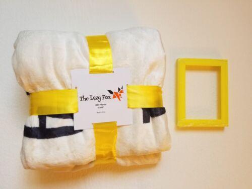 Baby Monthly Milestone Blanket - Soft Fleece & Free Frame, Large 40x60