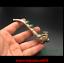"4.32""Old China antique brass Set Jade smoke Bucket"