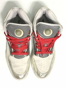 668ce7d001c1 REEBOK PUMP OMNI LITE METALLIC DEE BROWN SILVER STEEL GREY RED 4 ...
