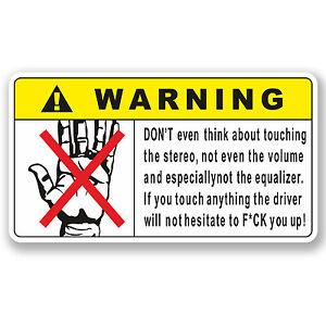 Image Is Loading 2 X 10cm Funny Warning Vinyl Sticker Cool