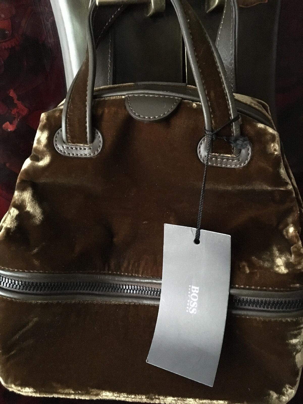 Fendi Zucca Muster Schultertasche Braun-beige Leinen Leder Vintage West Beutel Kleidung & Accessoires