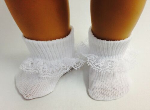 "White Lace Socks Accessories made for 18/"" American Girl Doll Clothes"