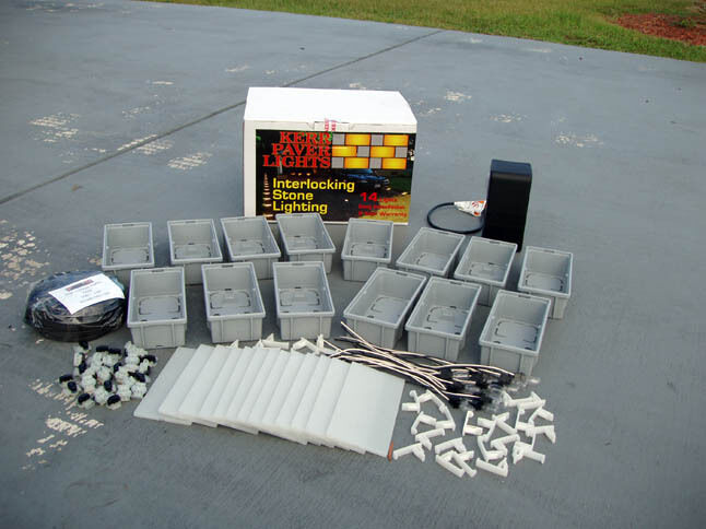 Paver light 14 pack kit 4x8  by Kerr Lighting KPAV04-14-120K