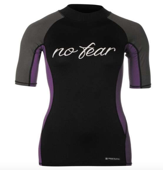 No Fear women Neopreno Camiseta black purple manga corta Todos Las sizes