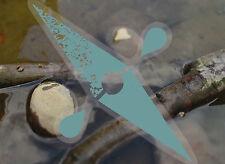 International Kayak decal,conserving watersheds,clearvinyl sticker w/blue logo