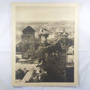 Photo-Flandrin-large-Heliograph-Editions-Mars-11-Rabat-Les-Cigognes-Aux-Oudayas