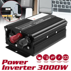 3000W Car Solar Power Inverter DC12/24V To AC110V/220V Sine Wave Converter