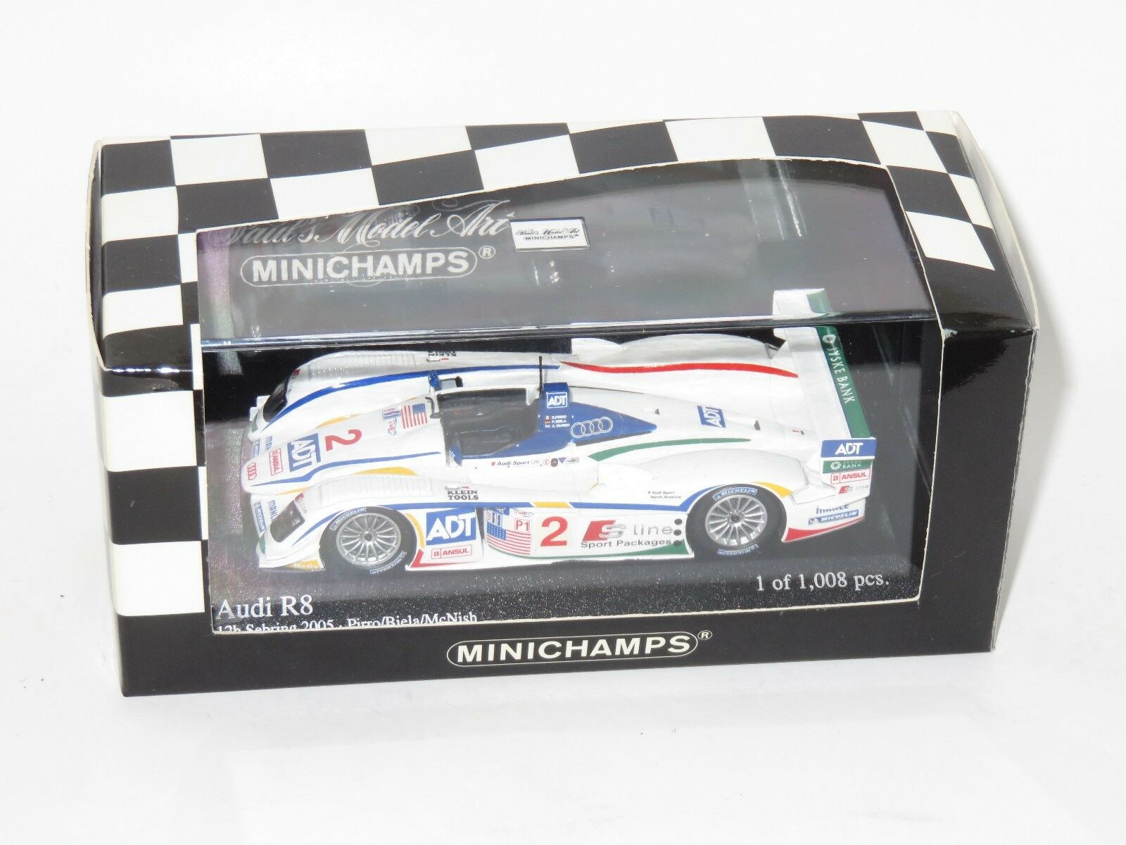 1 43 Audi R8 Sebring 12 Hrs 2005 Biela Pirro McNish