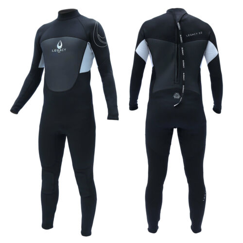 Legacy 3//2mm Mens Full Wetsuit Surf Steamer Swim Long Wet Suit Kayak S-XXL