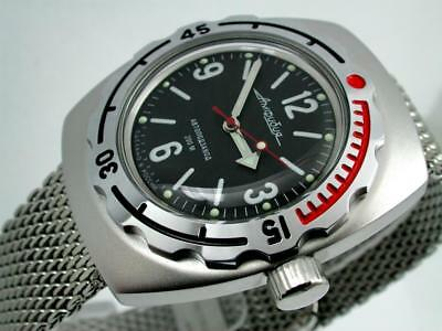 RUSSIAN VOSTOK 2415  AUTO AMPHIBIAN 1967 DESIGN DIVER WATCH 090660m NEW
