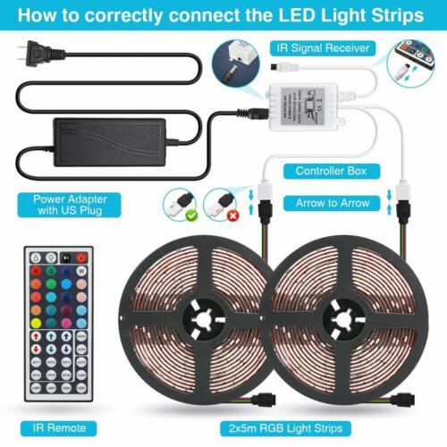 10M 5050 RGB LED STRIP LIGHTS COLOUR CHANGING TAPE KITCHEN LIGHTING 10M 5M IP65