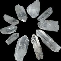 "Quartz Crystal Wands Points 1.5"" - 2"" Grid Set of 10"