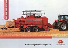 Prospekt Massey Ferguson MF 185 186 187 190 Großballenpressen 6 05 2005 broschyr