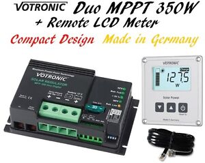 Dual Duo Mppt Solar Regulator Charge Controller Lcd Remote